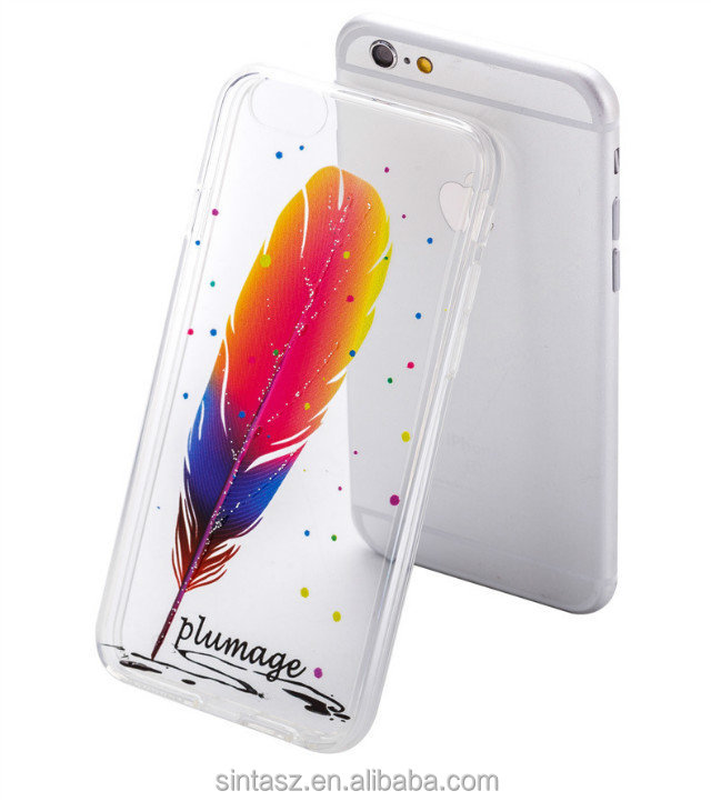 Factory price low MOQ custom 3D printing OEM logo printing transparent TPU phone case cover for iPhone 6s 6s Plus case