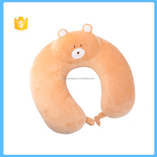 Lovely bear plush U shape memory foam pillow