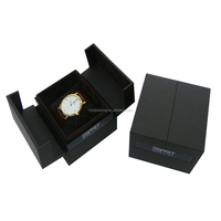 Chocolate brown luxury paper watch box with SGS certificate