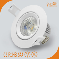 Driverless LED Downlight IP44 6W 450LM Cut-out 70mm Samsung AC COB LED