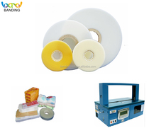 Factory hot sales banding material opp printed tape for banding machine