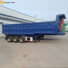 3 Axles Rear Dump Hydraulic Tail Lift 40ton truck tractor tipper trailer for sale