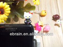 hello kitty earphone plug,Fashion earphone Dust Plug ,promotional cartoon earphone plug