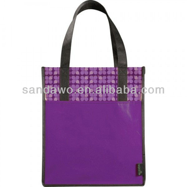 Purple PP Non Woven Bag, Waterproof Bag (N801058)