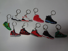 air nike jordans sneakers shoes kerings men's air jordan basketball shoes keychains custom 3d air jordan keychains