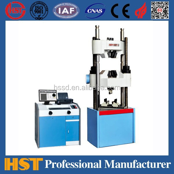 CE approved WAW-C Computerized Electro-hydraulic Servo Universal Testing Machine for engineering inspection