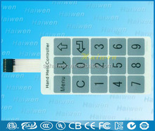 2014 new High quality waterproof membrane switch keypads with 3m adhesive