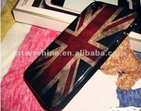 OEM Old Fashioned Smoky UK ,USA National Flag Hard Back Case Cover For iPhone4 4S 4G