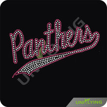 Panthers rhinestone applique hot fix