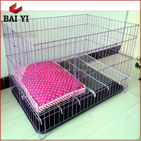 Baiyi Wholesale Foldable Stainless Steel/Display Dog Cage With Different Size