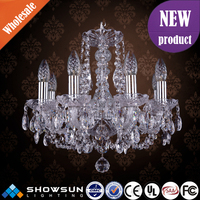 Chrome indian style design classical bohemia chandelier crystal