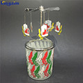 Custom metal Wheat tea light powered spinning candle holder carousel