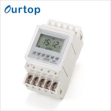 OURTOP Led Light Electronic Controller Digital Programmable Time Switch Power Reserve 3 Years