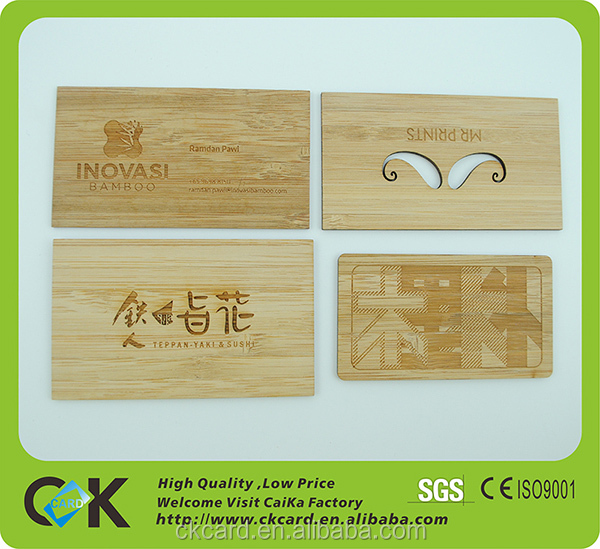New product engraved wooden business card wholesale