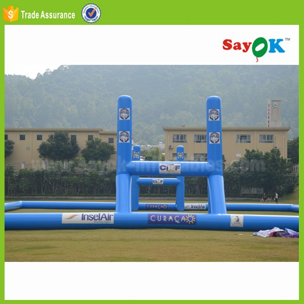 giant inflatable football pitch advertising soccer field for training