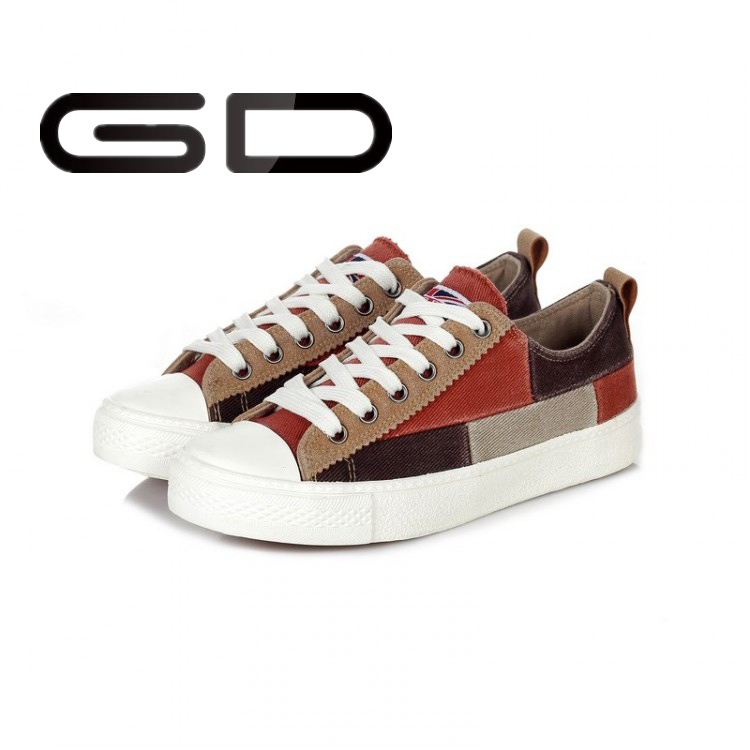 GD wholesale mixed colors canvas lady shoes