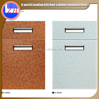 2015 mdf laminate new pvc cabinet door designs mini kitchen cabinet apartment (zhuv)