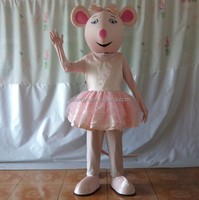 Hola pink mouse mascot costume/animal mascot costumes for kids
