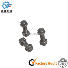 Excavator parts excavator track bolt and nut digging forged bucket teeth for PC200