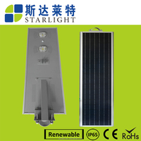 TOP sale working independent save energy low power consumption 80w solar CE& ROHE system street light