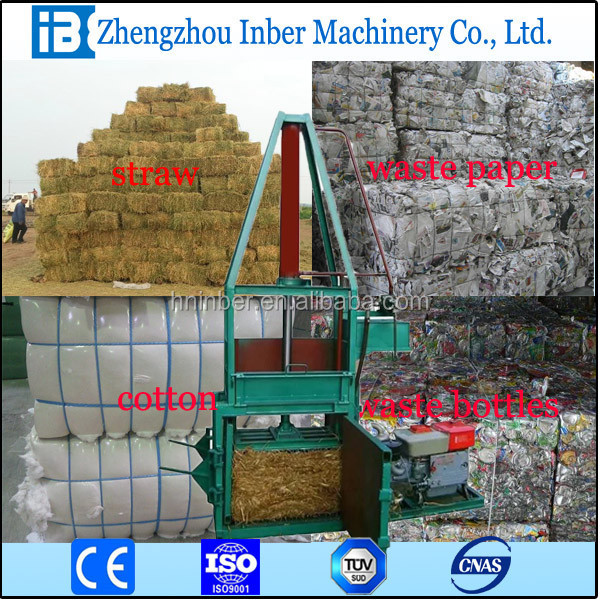 Vertical Hydraulic Aluminum can press baler ,waste pet bottle baling press