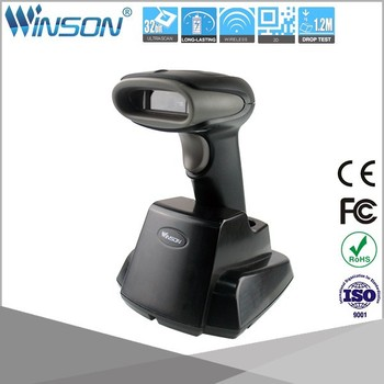 High quality 2D CMOS RF433 Wireless handheld barcode scanner with recharge cradle receiver