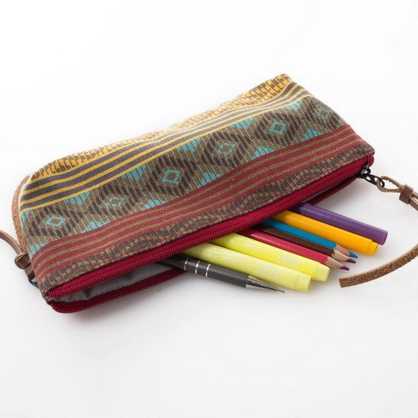 wholesale canvas gift pencil bag school pencil case pen bag