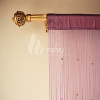 Purple crystal beaded door curtain room divider