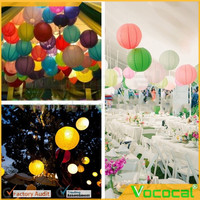 6 PCS Home Store Wedding Festival Party Round Shape Paper Lanterns Hanging DIY Decorations Random Color