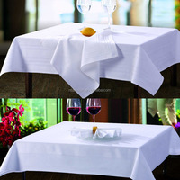 100% cotton table cloth for luxe hotel bleached white color