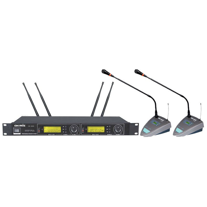 best price cordless conference microphone 2 channels room conference microphone