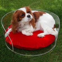 Acrylic Pet Dog Bed, Clear Acrylic Plastic Cat Pet Bed Cute Dog Bed