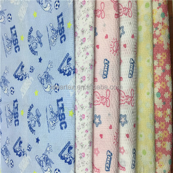 Printed100% Cotton Seersucker Fabric For Garment