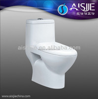 A3119 Bathroom China Supply One Piece Soft closing seat Floor Mounted Eastern Toilet Types Of P-trap