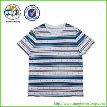 Wholesales custom cheap blank colorful striped t-shirt