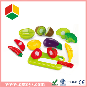 Children mini fruit and vegetable kitchen toy set with EN71