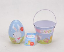 easter metal buckets and metal easter egg