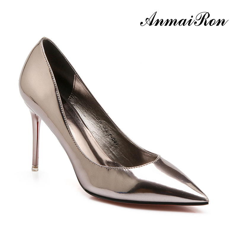 Hot sale italy design elegant pencil high heel lady shoes