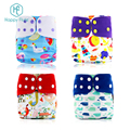 Happy flute custom digital print One Size Pocket Cloth nappy Reusable Baby Diaper