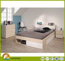 Fancy Bedroom Wood PB Panel Bed Simple Structure Furniture Sets