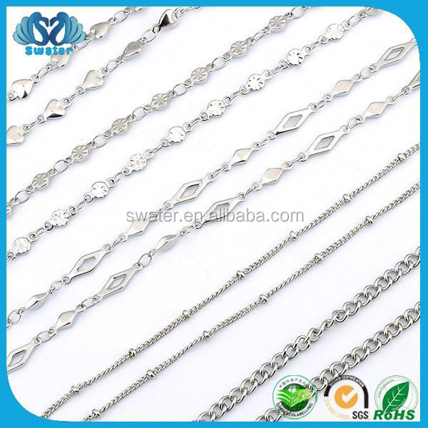Hot Sale Necklace Chain Stainless Steel Jewelry Italy 925 Chain