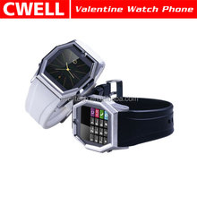 TW520 Valentine 1.3MP CMOS camera GSM Quad-band network supported Watch Mobile Phone
