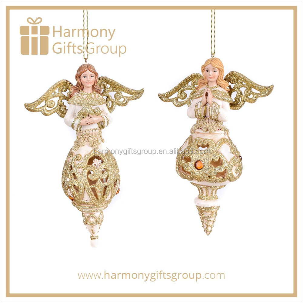 New Design Holiday Gifts Product Resin Angel Religious Figurines