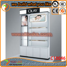 2014 Hot selling Mall cosmetic display shelf, cosmetic stands free for design
