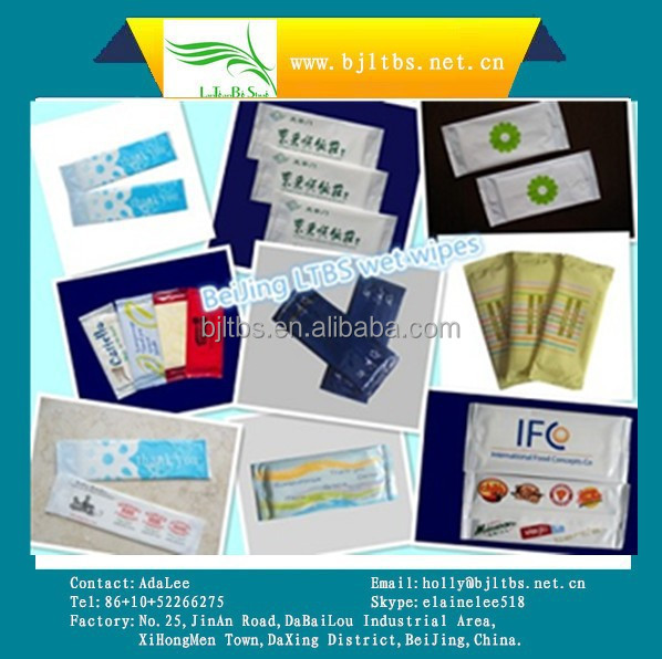 Disposable Single Restaurant wet Wipes for Hands&Face