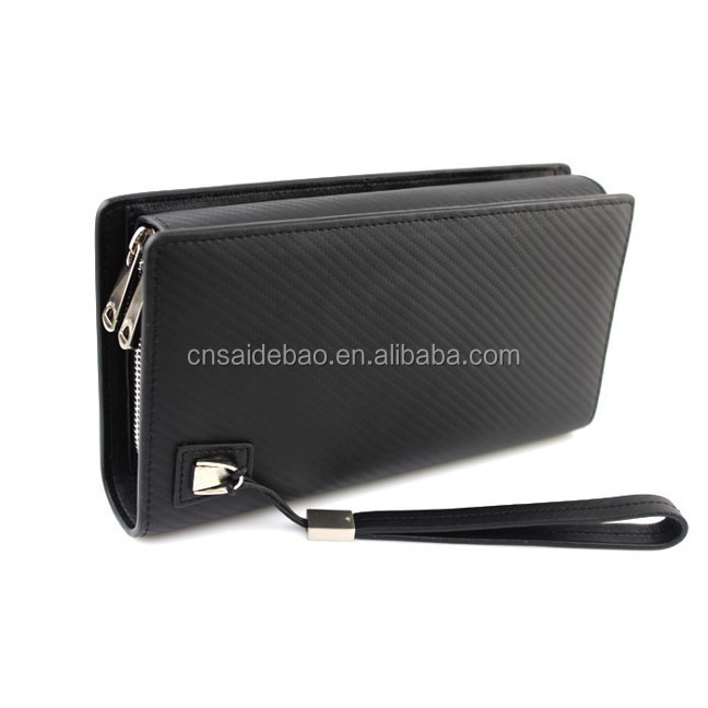 hot factory custom genuine leather man's wallet in china
