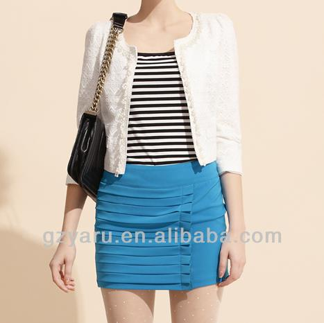 Korean Fashion Ladies Formal Skirts Designer
