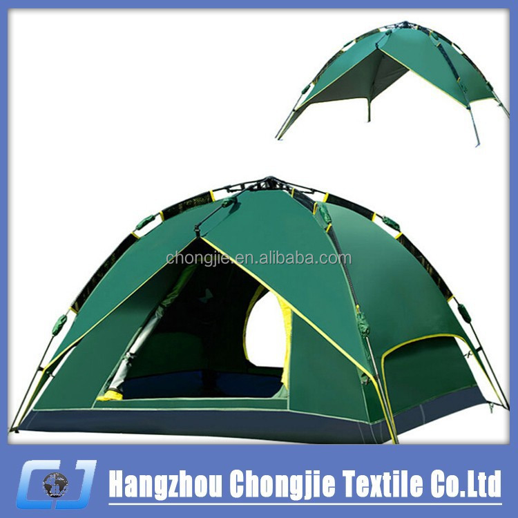 Two Door 3 Season 210*230*140 cm 3-4 Person Double Layer Outdoor Beach Camping Automatic Tents For Sale