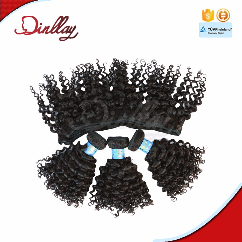 In stock for Christmas remy black color human hair jerry curl hair weft