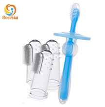 best selling products wholesale silicone children baby infant training finger toothbrush